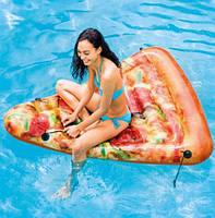 """Надувной матрас 58752 (6шт) """"Пицца"""" винил, в кор. 175*145см"""