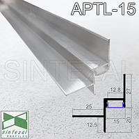 Алюминиевый профиль теневого шва c LED-подсветкой Sintezal APTL-15, фото 1