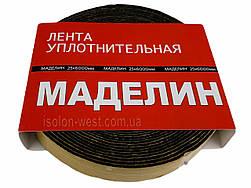Антискрип Маделин М1 черный, лента 25х6000мм, уплотнительный, проклодочный материал