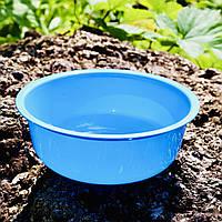 Топ! Пластиковая Миска 700 мл прочная 16х5.5 см одноразовая, Голубая