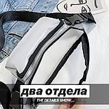 Женская бананка прозрачная поясная сумка черная, фото 7