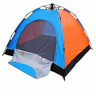Палатка- Автомат с автоматическим каркасом, 4-местная, Влагозащищенное дно