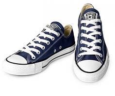 Кеды Converse All Star Низкие темно Синие  Джинсовые
