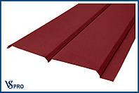 Сайдинг фасадный металлический Евро-Брус, RAL 3011 Цвет Коричнево-красный (матовый).