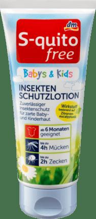 S-quito free Babys & Kids Insektenschutz - Лосьон от комаров, клещей для младенцев и детей, 100 мл