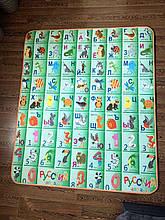 Дитячий двосторонній килимок динозаврик/алфавіт EPE 180*150*1см