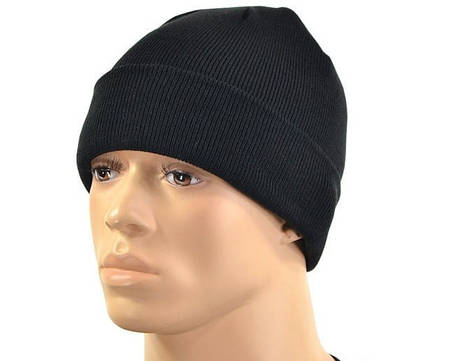 Вязаная акриловая шапка MilTec Black 12133002, фото 2