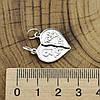 Серебряный кулон Валентинка размер 25х19 мм вес 1.99 г, фото 3