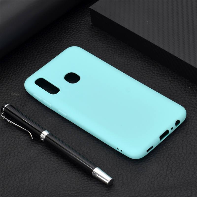 Чехол Soft Touch для Vivo Y93 Lite силикон бампер мятно-голубой