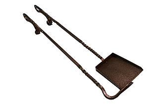 Кованые совок и кочерга Антик медь01