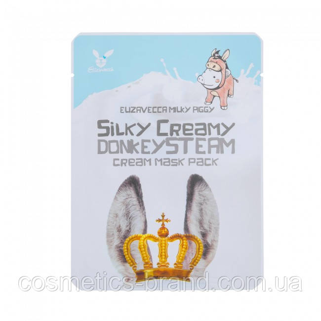 Маска на основе парового крема ELIZAVECCA SILKY CREAMY DONKEY STEAM CREAM MASK