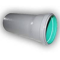 Труба 110х2,7х315 ПП Инсталпласт раструбная с уплотнительным кольцом для внутренней канализации внутри зеленая