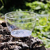 Топ! Прочная Чашка 150 мл пластиковая 7.5х4.5 см одноразовая, Прозрачная, фото 1