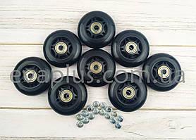 Колеса для роликів 80 мм. 8 шт. (чорні)