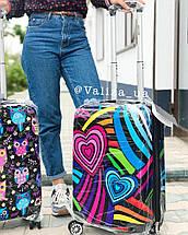 Качественный пластиковый чемодан из поликарбоната с принтом граффити для ручной клади Франция, фото 3