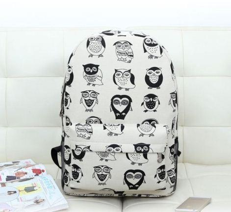 Рюкзак молодежный, модный Комиксы Сова.