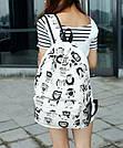 Рюкзак молодежный, модный Комиксы Сова., фото 6