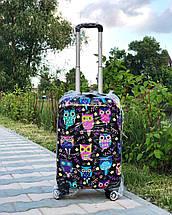 Пластиковый чемодан с сердечками для ручной клади Франция, фото 3