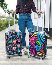 Пластиковый чемодан с сердечками для ручной клади Франция, фото 2