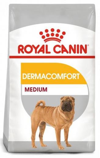 Сухой корм Royal Canin (Роял Канин) MEDIUM DERMACOMFORT для собак средних пород с чувствительной кожей, 3  кг