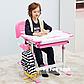 Детская парта растишка и стульчик FunDesk Bambino Pink, фото 8