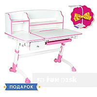 Детская регулируемая парта FunDesk Amare II Pink с выдвижным ящиком