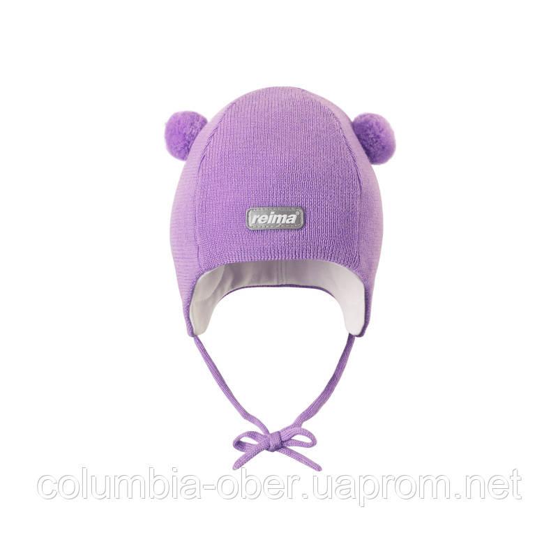 Шерстяная трикотажная шапка Reima Listen для девочки. Размер 44.