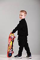 Костюм детский спортивный черный с принтом Point ONE