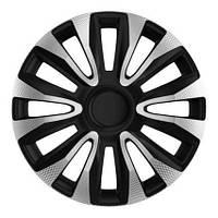 4 RACING Avalon Carbon Silver&Black R14 Колпаки для колес (Комплект 4 шт.)