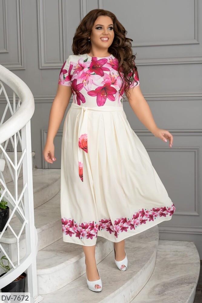 Стильное платье  (размеры 48-54) 0246-46