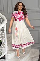 Стильное платье  (размеры 48-54) 0246-46, фото 1