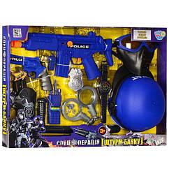 Набор полиции 33540 каска, маска, автомат, пистолет, кобура, наручники