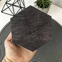 Шкатулка для колец шестиугольная с наполнением, фото 1