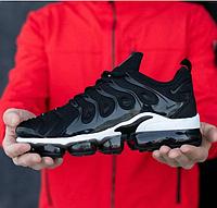 Nike Air VaporMax Tn Plus Black White | кроссовки мужские; спортивные/спорт; летние; черно-белые; найк