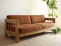 "Мягкий диван ""Земас"", деревянный мягкий диван, диван из натурального дерева, диван деревянный"