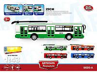 "Троллейбус PLAY SMART 9690-A ""Автопарк Маршрут"" инерц.откр.дв.свет.муз.кор.32,7*10*10 ш.к./36/"
