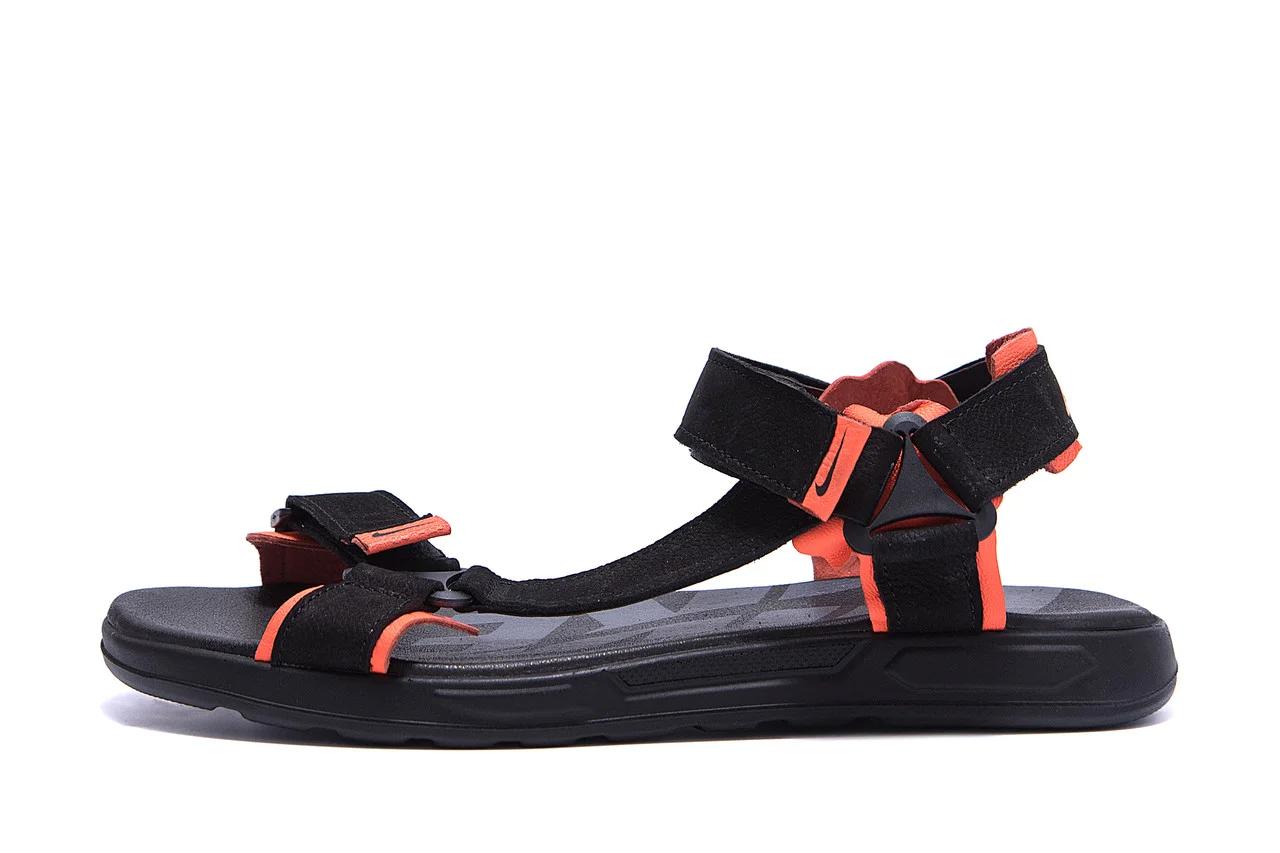 Чоловічі шкіряні сандалі Nike Track Black