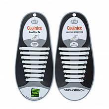 Силиконовые шнурки Coolnice В01 Белые nri-831, КОД: 1014764