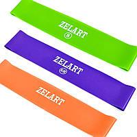 Фитнес-резинки набор 3 шт Zelart Loop Bands, ленты сопротивления