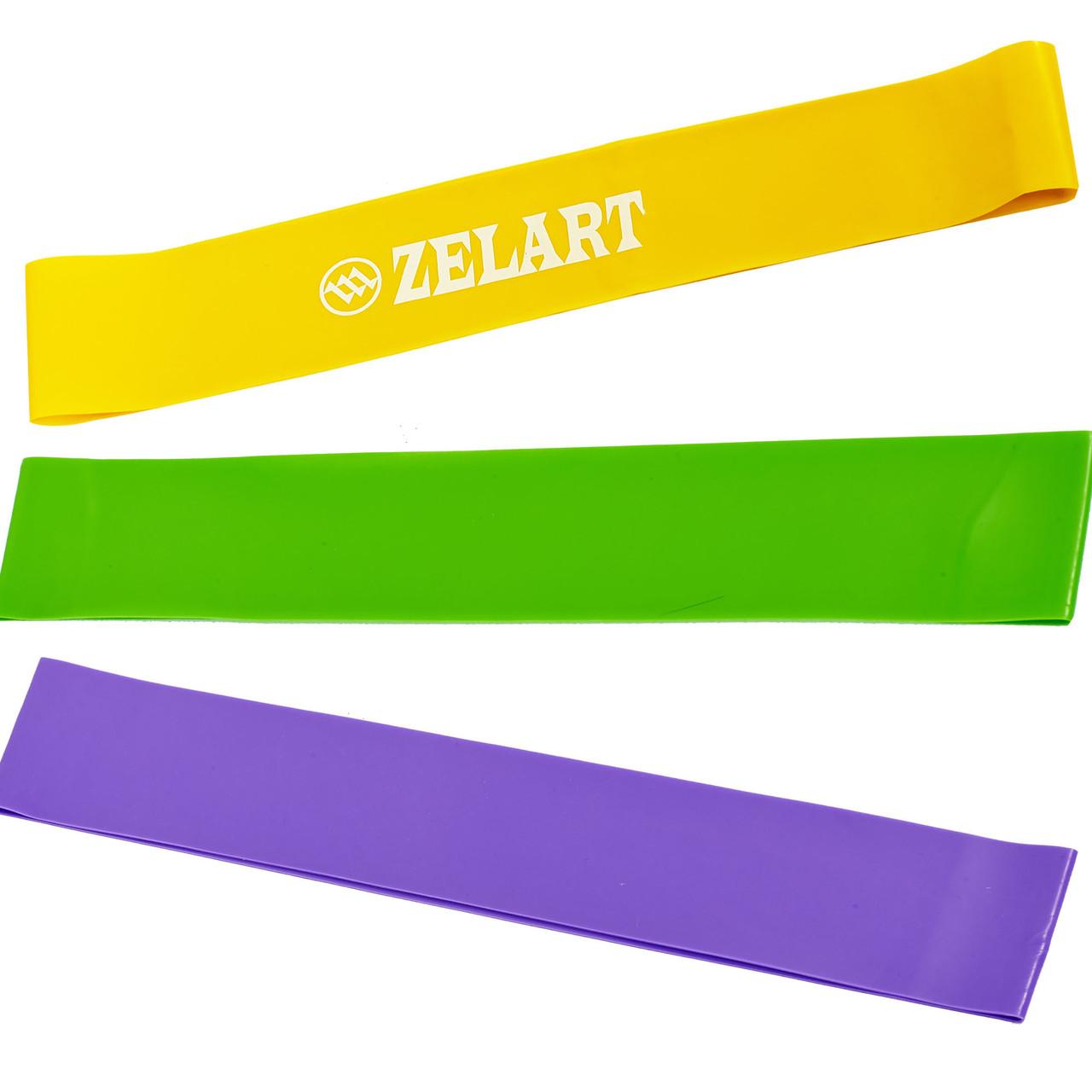 Фитнес-резинки набор 3 шт Zelart Light Bands, ленты сопротивления