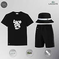 Летний комплект Lacoste Шорты + Футболка / мужской трикотажный костюм ЛЮКС качества, фото 1