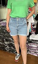 Шорты джинсовые женские молодёжные размер 34-40 купить оптом со склада 7 км Одесса