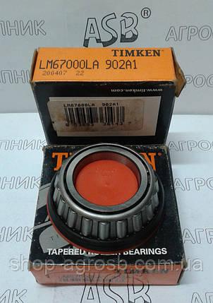 Підшипник TIMKEN LM67000LA (ASSY902A2, LM67000XL, 51735322, JD8903, 822-240C, 50117, 87566351) (31,75x59,13, фото 2
