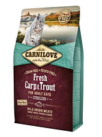 Сухой корм Carnilove Fresh Carp & Trout Sterilised for Adult cats карп и форель для стерилизованных кошек 0.4