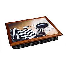 Поднос цветной BST Полосатый кофе 040551, КОД: 1564665