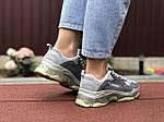 Женские кроссовки Balenciaga (серые) 9502, фото 2