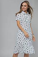 Женское платье-рубашка из штапеля Lipar Белое
