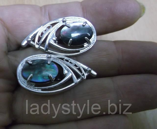 купить украшения с натуральным перламутром серьги кольцо ювелирный набор