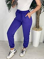 Женские штаны однотонные 42-44 46-48 рр, чёрный, белый, бордо, бежевый, салатовый и серый, фото 1