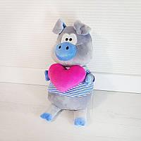 Мягкая игрушка Золушка Поросенок Хосе с сердцем в голубом 1244, КОД: 1463768